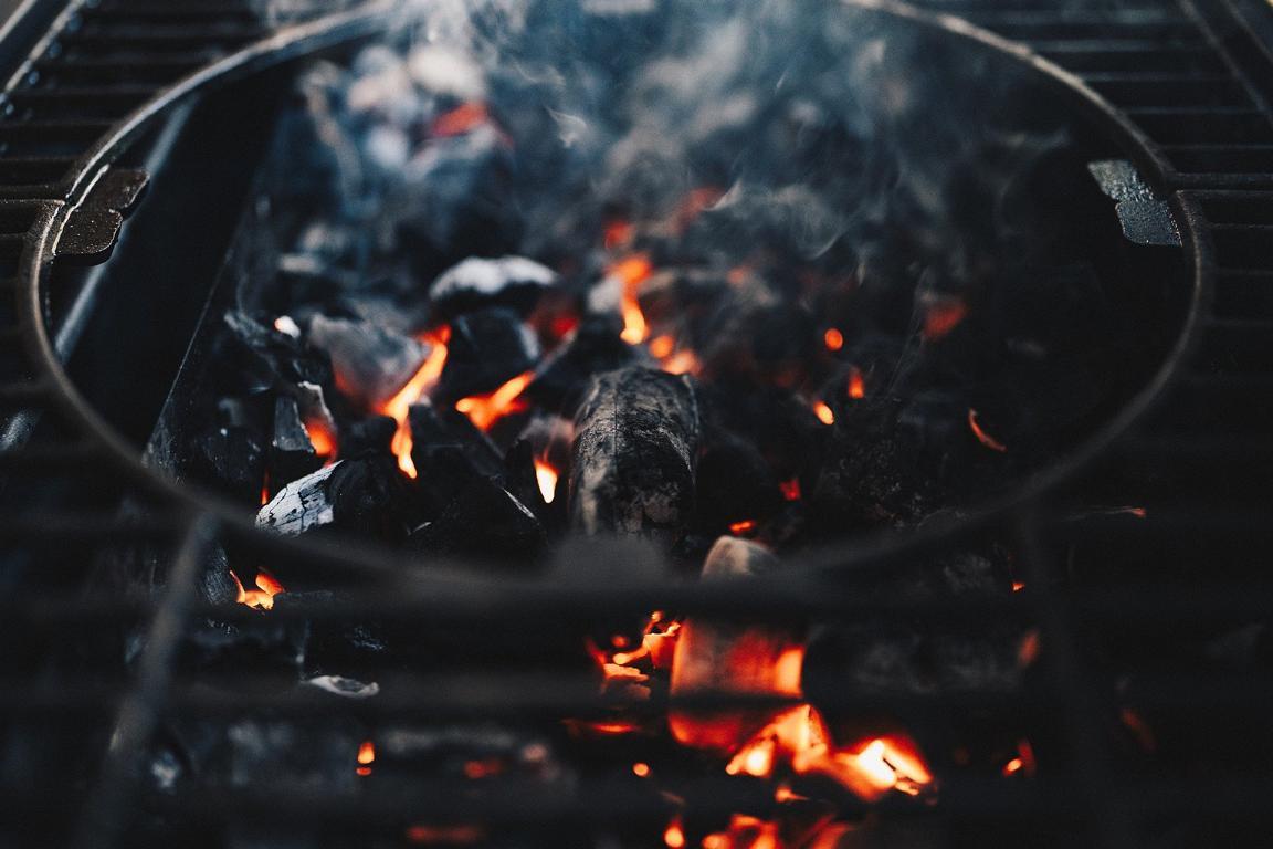 Dampf beim Grillen