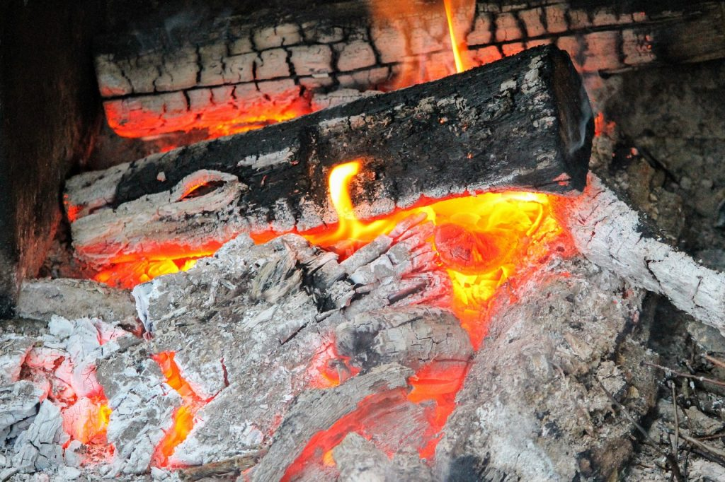 Glut Asche Feuer Holz